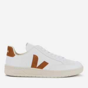 Veja Men's V-12 Leather Trainers - Extra White/Camel