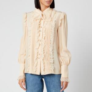 Zimmermann Women's Lucky Tubular Frilled Shirt - Cream