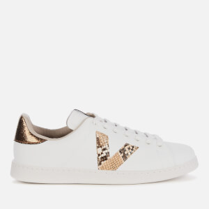 Victoria Women's Sustainable Leather Tennis Trainers - Camel