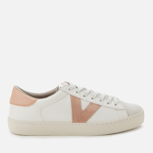 Victoria Women's Sustainable Leather Flatform Trainers - Cuarzo