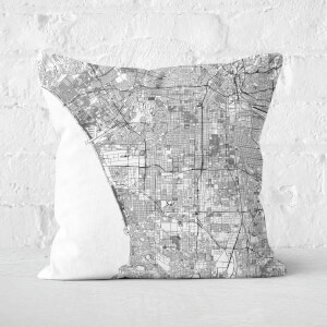 LA City Map Square Cushion