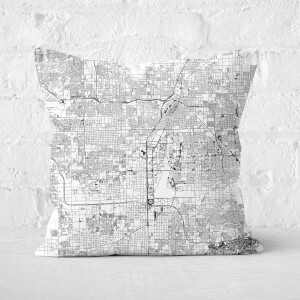Las Vegas City Map Square Cushion