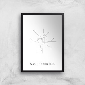 Washington D C Tram Lines Giclee Art Print