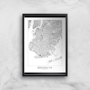 Brooklyn Light City Map Giclee Art Print