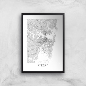 Sydney Light City Map Giclee Art Print