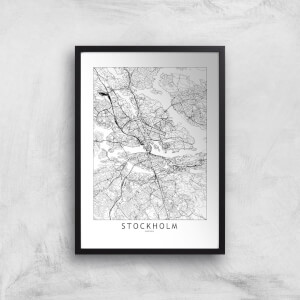 Stockholm Light City Map Giclee Art Print