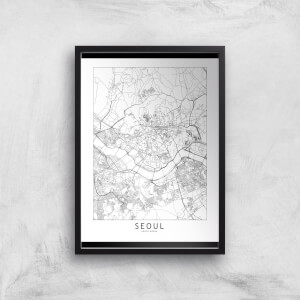 Seoul Light City Map Giclee Art Print
