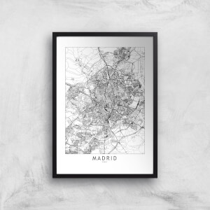 Madrid Light City Map Giclee Art Print
