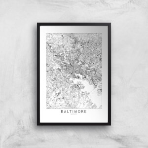 Baltimore Light City Map Giclee Art Print