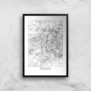 Prague Light City Map Giclee Art Print