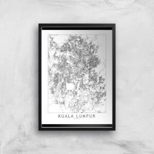 Kuala Lumpur Light City Map Giclee Art Print
