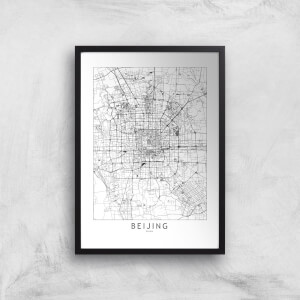 Beijing Light City Map Giclee Art Print