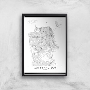 San Francisco Light City Map Giclee Art Print