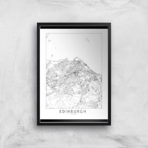 Edinburgh Light City Map Giclee Art Print