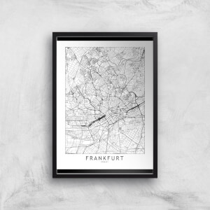 Frankfurt Light City Map Giclee Art Print