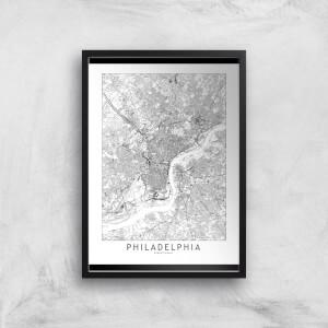 Philadelphia Light City Map Giclee Art Print