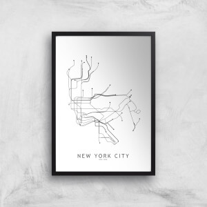 New Your City Subway Map Giclee Art Print