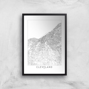Cleveland Light City Map Giclee Art Print