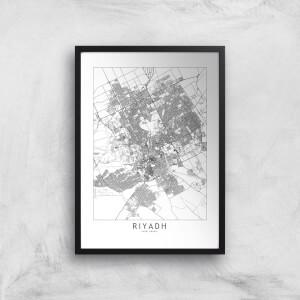 Riyadh Light City Map Giclee Art Print