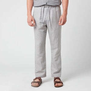 Frescobol Carioca Men's Sports Tencil-Linen Chino Pants - Melange Grey