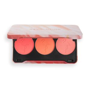 Makeup Revolution Flamingo Mini Trio Blush - Oh My Blush