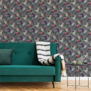 Superfresco Easy Grey Isabelle Floral Wallpaper