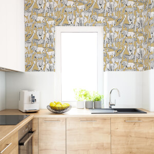 Superfresco Easy Jaune Jungle Animals Wallpaper