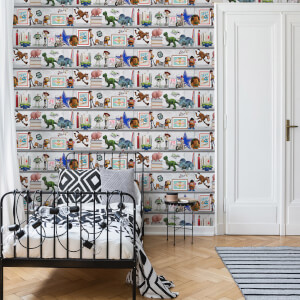 Disney Toy Story Play Date White/Multicolour Wallpaper