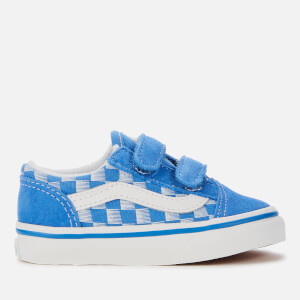 Vans Toddlers' Racers Edge Old Skool Velcro Trainers - Blue/True White