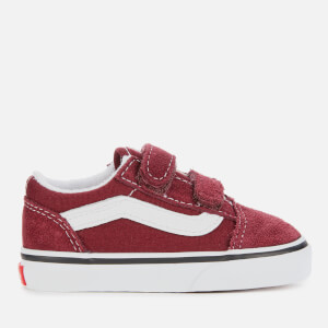 Vans Toddlers' Old Skool Velcro Trainers - Port Royale/True White