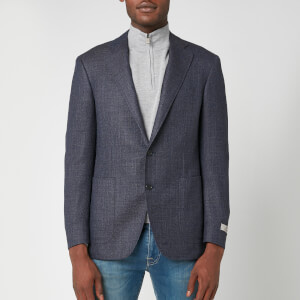 Canali Men's Wool Hopsack Kei Blazer - Blue