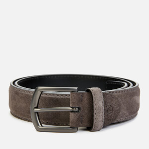 Canali Men's Suede Belt - Grey