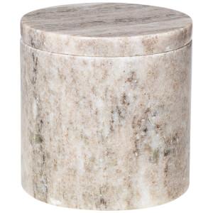 Broste Copenhagen Marble Canister - Tan