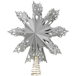 Broste Copenhagen Star Tree Topper - Silver