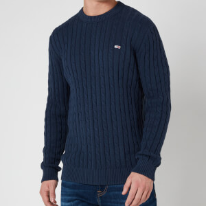 Tommy Jeans Men's Essential Cable Jumper - Twilight Navy
