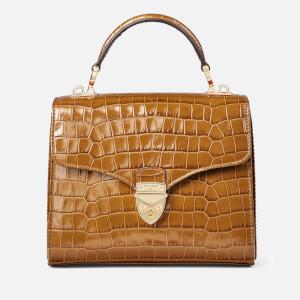Aspinal of London Women's Mayfair Midi Small Croc Bag - Vintage Tan