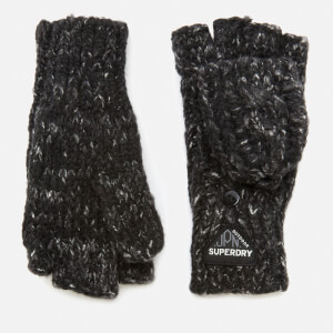 Superdry Women's Gracie Cable Gloves - Black Tweed
