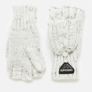 Superdry Women's Gracie Cable Gloves - Winter White Tweed