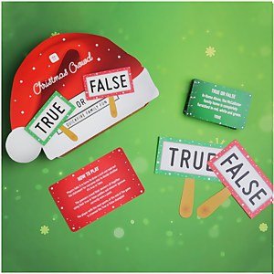 Talking Tables Christmas True or False Game