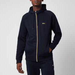 BOSS Men's Saggy 1 Zip Through Hoodie - Dark Blue