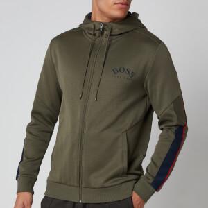 BOSS Men's Saggy Zip Through Hoodie - Dark Green