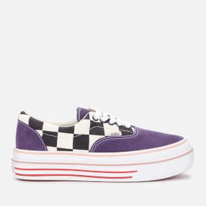 Vans Women's Comfycush Super Suede/Canvas Era Trainers - Purple Velvet/Classic White