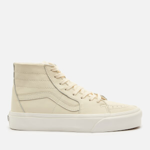 Vans Women's Sk8-Hi Tapered Leather Trainers - Marshmallow/Snow White