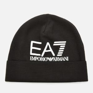 Emporio Armani EA7 Men's Logo Beanie - Black