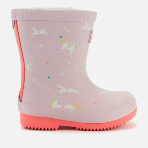 Joules Toddlers' Welly Print Wellies - Pink Unicorns