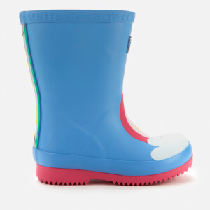 Joules Toddlers' Welly Print Wellies - Blue Rainbow