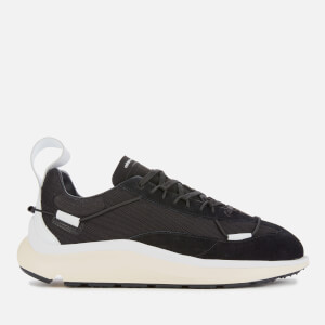 Y-3 Men's Shiku Run Trainers - Black/White/Ecritin