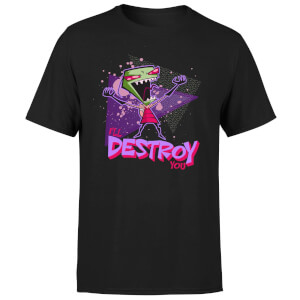 Invader Zim I'll Destroy You Men's T-Shirt - Black