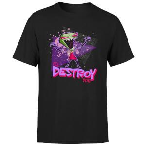 T-shirt Invader Zim I'll Destroy You - Noir - Homme