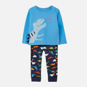 Joules Babies' Byron 2 Piece Set - Blue Dino